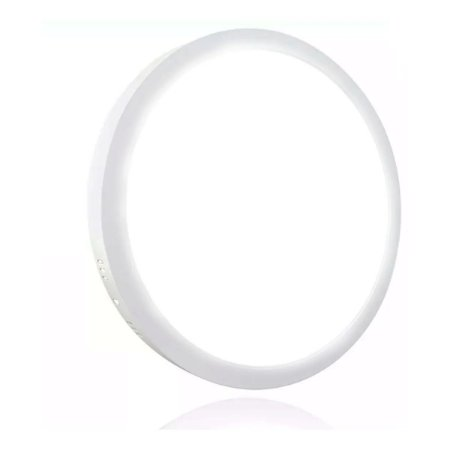 Mini Painel Plafon LED 12w Redondo Sobrepor - Branco Frio
