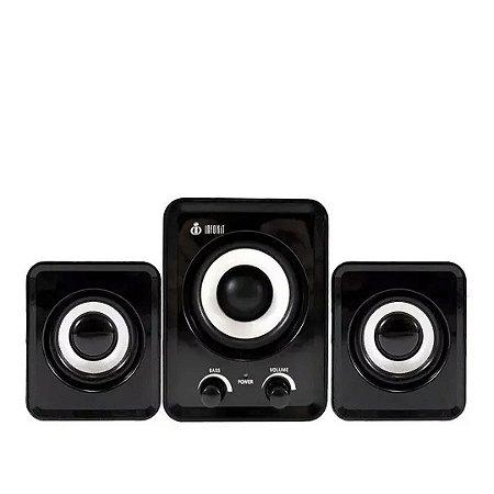 Caixa De Som Bluetooth Subwoofer 11w Usb  2.1 - Preta