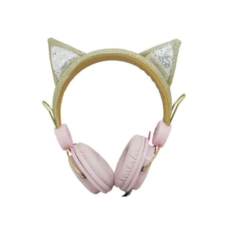 Fone De Ouvido Headphone Orelha De Gato Com Glitter - ZAT251