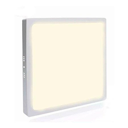 Painel Plafon LED 42w Quadrado Sobrepor - Branco Morno