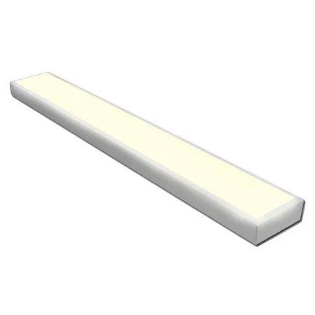 Painel Plafon LED 18w Retangular Sobrepor - Branco Quente