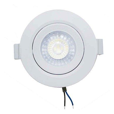 Spot LED 7w SMD de Embutir - Branco Frio