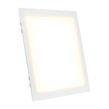 Painel Plafon LED 25w Quadrado Embutir - Branco Neutro