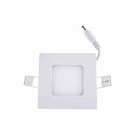 Painel Plafon LED 6w Quadrado Embutir - Branco Quente