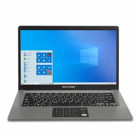 Notebook Multilaser Legacy Intel Atom  2Gb 32Gb - PC131 - Cinza