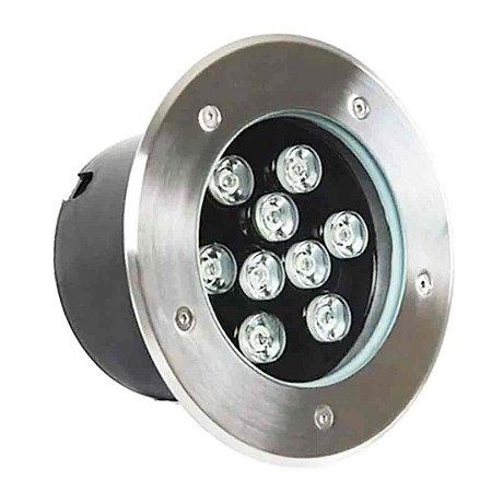 Balizador LED 9w De Chão - Branco Frio