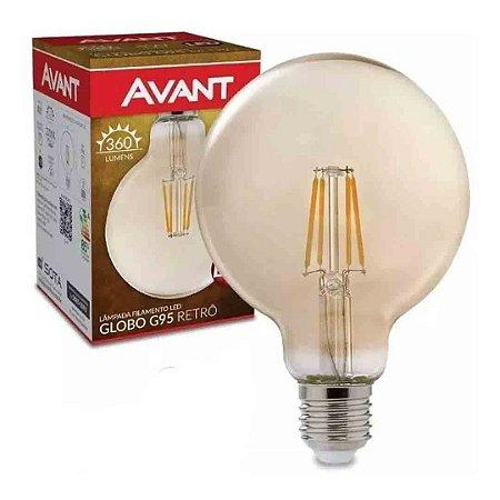 Lâmpada Filamento LED 4w Globo G95 Retrô Bivolt Avant - Âmbar