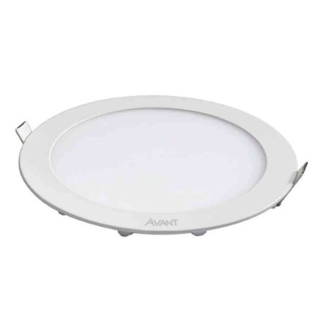 Painel Plafon LED 18w Redondo Embutir Bivolt Avant - Branco Frio