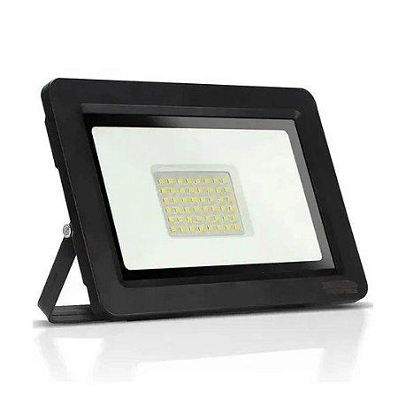 Refletor LED 50w Eco Clean SMD Holofote - Branco Frio