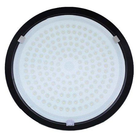 Luminária LED 200W Industrial Ufo High Bay Branco Frio 6500K - Bivolt