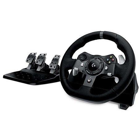 Volante Gamer com Pedal para Corrida Driving Force G920 - Logitech