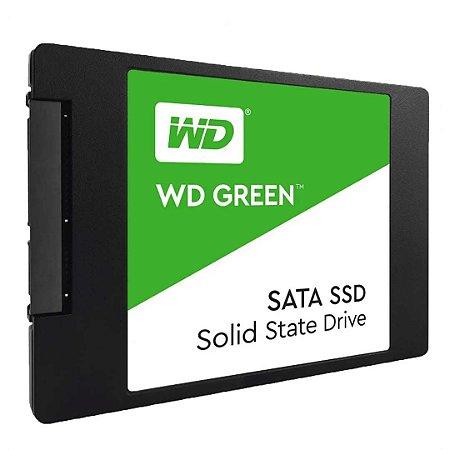 SSD 480GB WD Green SATA III 6 Gb/s - PC -WDS480G2G0A