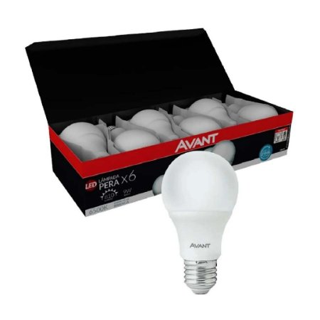Kit 6 Lâmpada Bulbo LED 12W Branco Frio - Econômico e durável