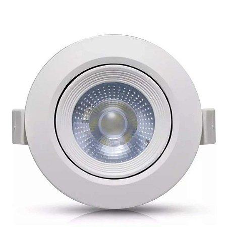 Spot LED 7w Redondo Branco Frio 6000k - Luz de Qualidade