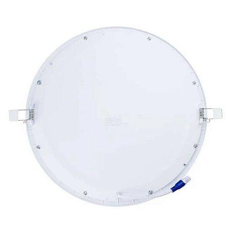 Painel Plafon Led 25w Redondo Embutir Branco Neutro 4200K