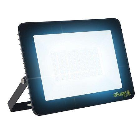 Refletor Led Eco Smd 100w Holofote Slim Branco Frio 6500k
