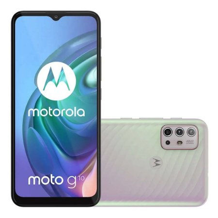 Smartphone Motorola Moto G10 4GB RAM 64GB- Branco Floral