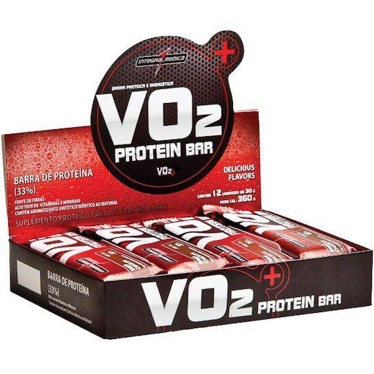 481b777dc Caixa VO2 Protein Bar 30g 24 Unidades - IntegralMédica - Vitta Gold ...