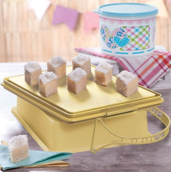 Tupperware Big Cake Retangular Plus Amarelo