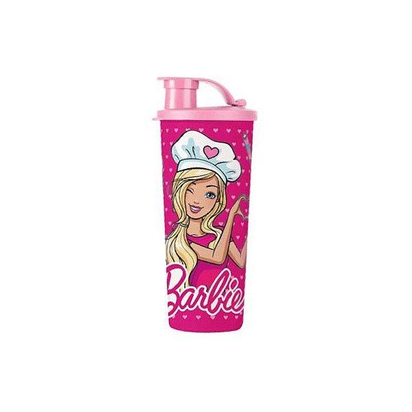 Tupperware Copo Com Bico Barbie Chef 470ml Rosa