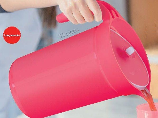 Tupperware A Jarra Colors 3,8 Litros Vermelho