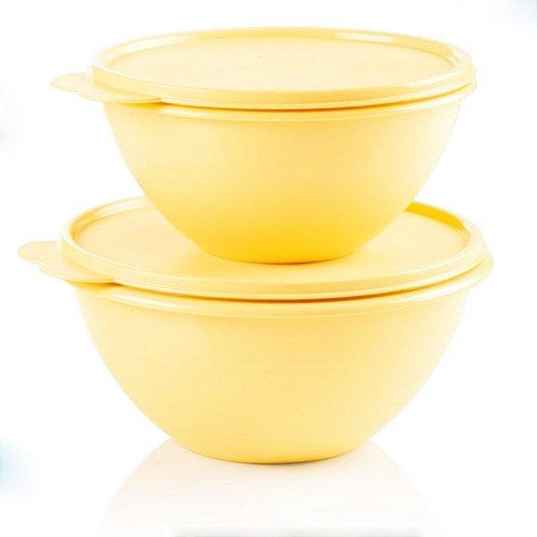Tupperware Tigela Maravilhosa Amarela kit 2 Peças
