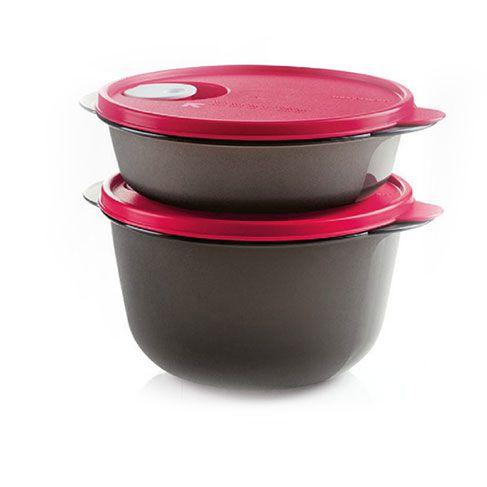 Tupperware Cristalwave kit 2 Peças Vermelho e Preto