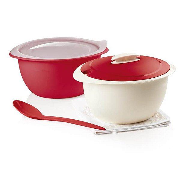 Tupperware Tigela Thermo 4,3 Litros Vermelho + Colher