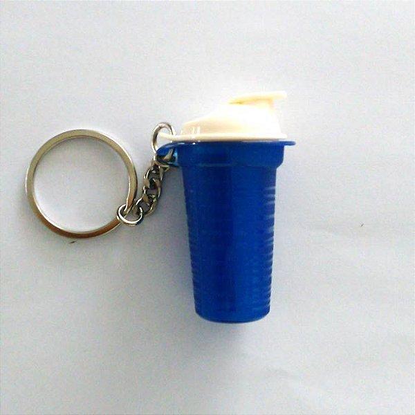 Tupperware Chaveiro Quick Shake Azul