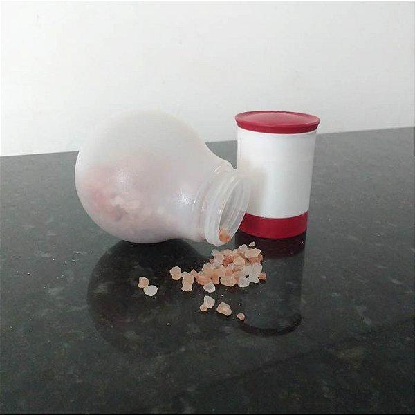 Tupperware Moedor de Pimenta e Sal Grosso Allegra 210ml Branco e Vermelho