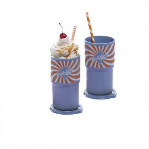 Tupperware Copo Colors Milk Shake 350ml cada kit 2 peças