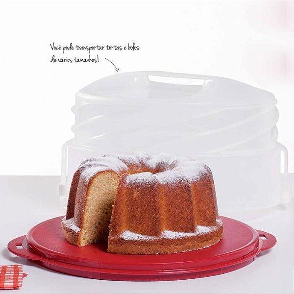 Tupperware Maxi Cake Vermelho Porta Bolo 2 em 1