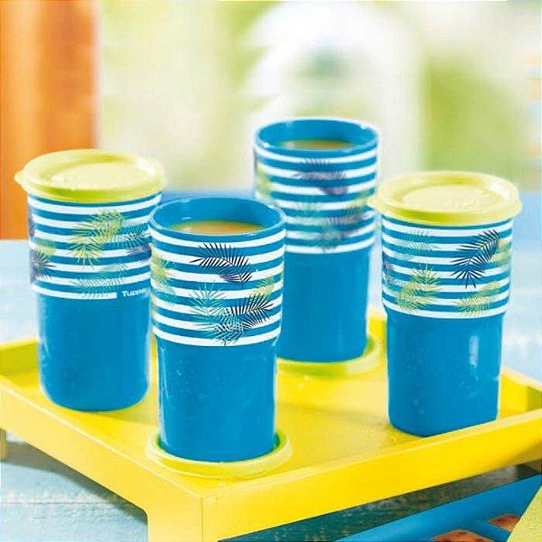Tupperware Copo Colors Listrado kit 4 Peças