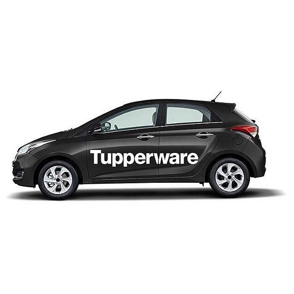 Adesivo Tupperware Lateral Carro kit 2 peças