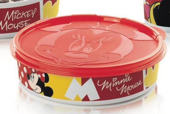 Tupperware Minnie Pratinho 500ml Branco e Vermelho