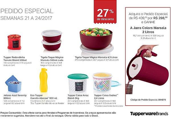 Tupperware Pedido Especial 06/2017 kit 8 peças + 1 grátis