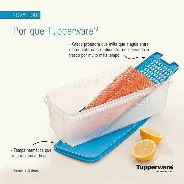 Tupperware Super Caixa Sereia 4,3 Litros Azul