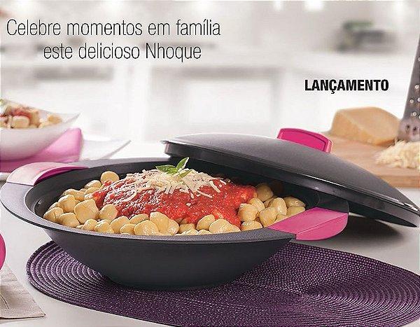 Tupperware Travessa Redonda Actualité 2,8 litros Preta e Rosa