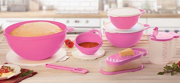 Tupperware Kit BEA Criativa Nível 3 Rosa 7 peças