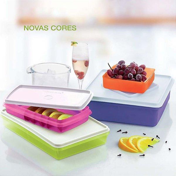 Tupperware Kit Refri box e Caixa Versátil Colorido 4 peças