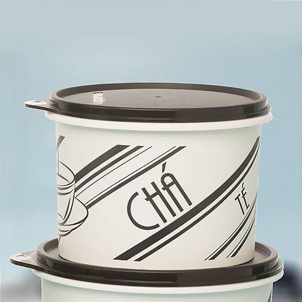 Tupperware Caixa para Chá P&B Retrô 700g Preto e Branco