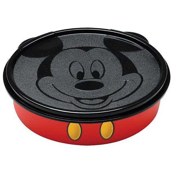 Tupperware Mickey virou Pratinho 500ml preto e vermelho