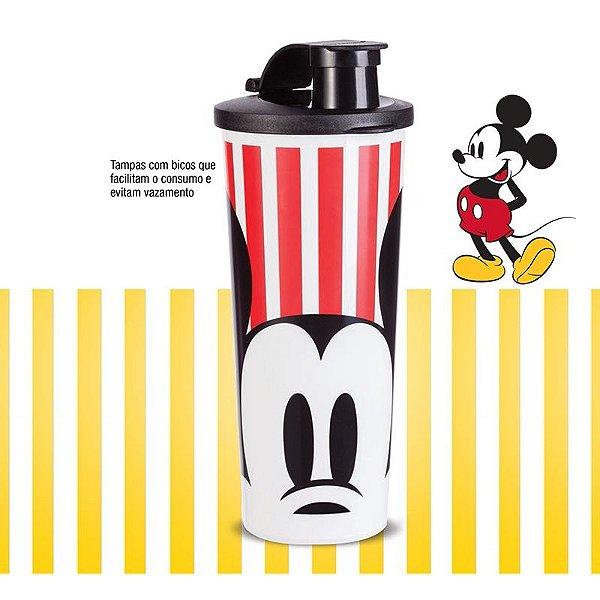 Tupperware Copo Mickey Vintage Vermelho e Preto 470 ml