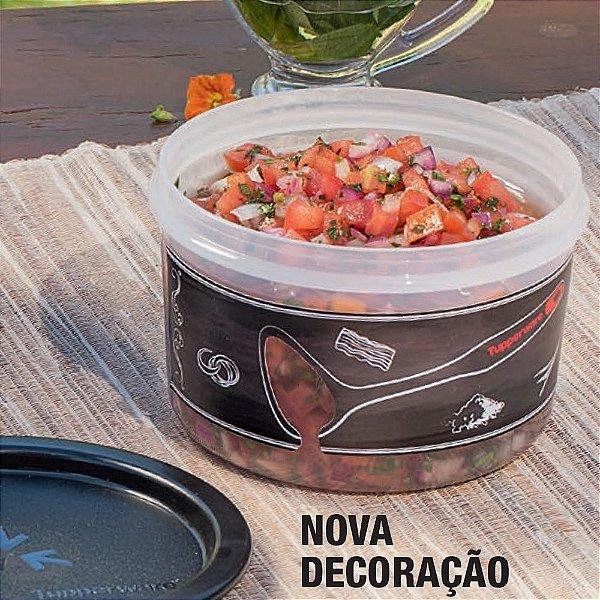 Tupperware Mini Instantânea 575ml Preto Translúcido Churrasco