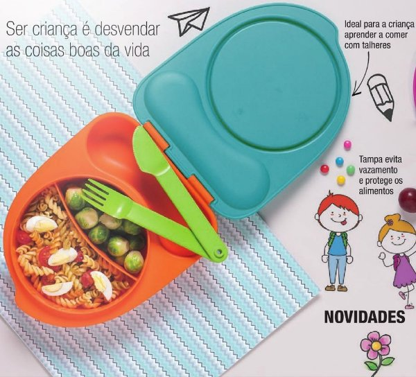 Tupperware Pratinho Infantil Azul 500ml