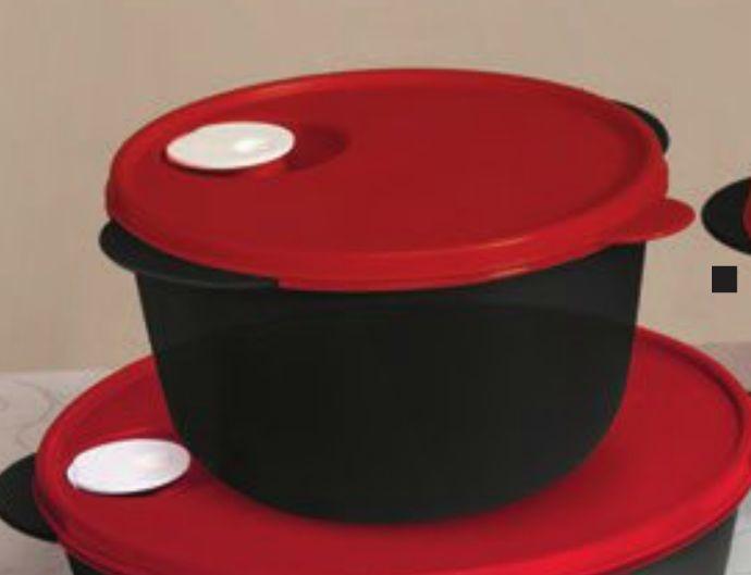 Tupperware Kit BEA Zen Line e Cristalwave Nível 1 Preto e Vermelho 4 Peças
