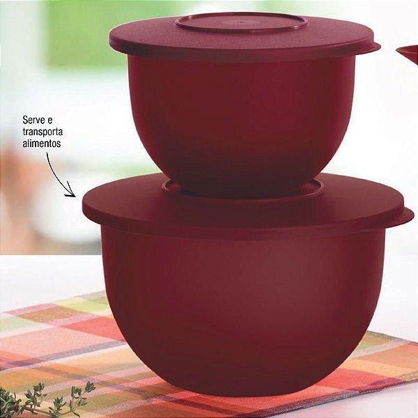 Tupperware Kit Tigela Murano Marsala Vinho 2 peças