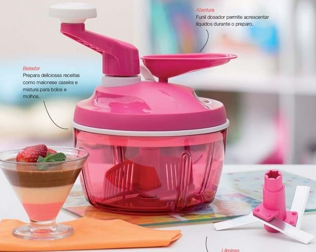 Tupperware Quick Chef 1,3 Litro Rosa