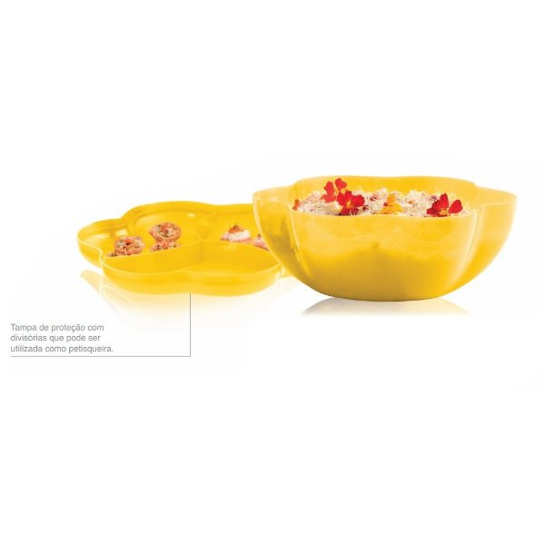 Tupperware Big Tigela Floresta 5,6 litros Amarela