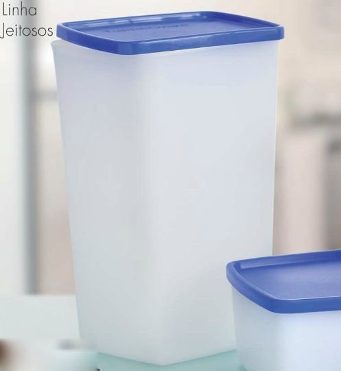 Tupperware Jeitosa 1,8 litro Tampa Azul